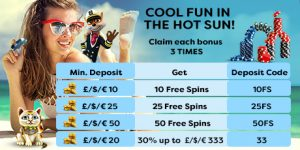 cool fun in the hot sun august promotion