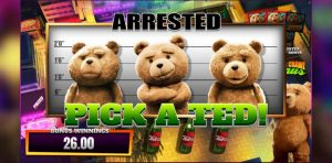 ted mobile slot gameplay arrested
