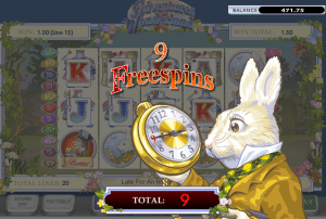 adventures in wonderland slot extra spins