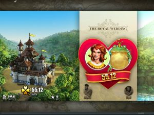 castle builder slot game royal wedding feature