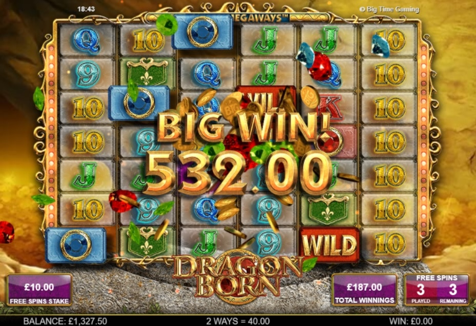 Dragon Born Extra Spins Big Win