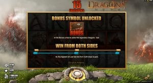 Dragon's Myth Extra Spins Bonus Feature