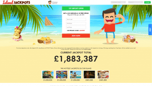 island jackpot screenshot homepage