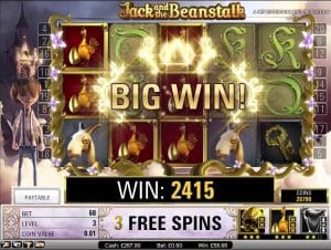 jack and the beanstalk extra spins bonus code