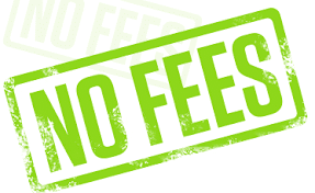 No Fees Stamp
