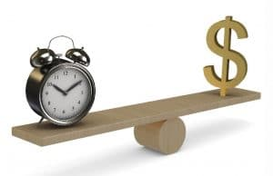 Time and Money See Saw