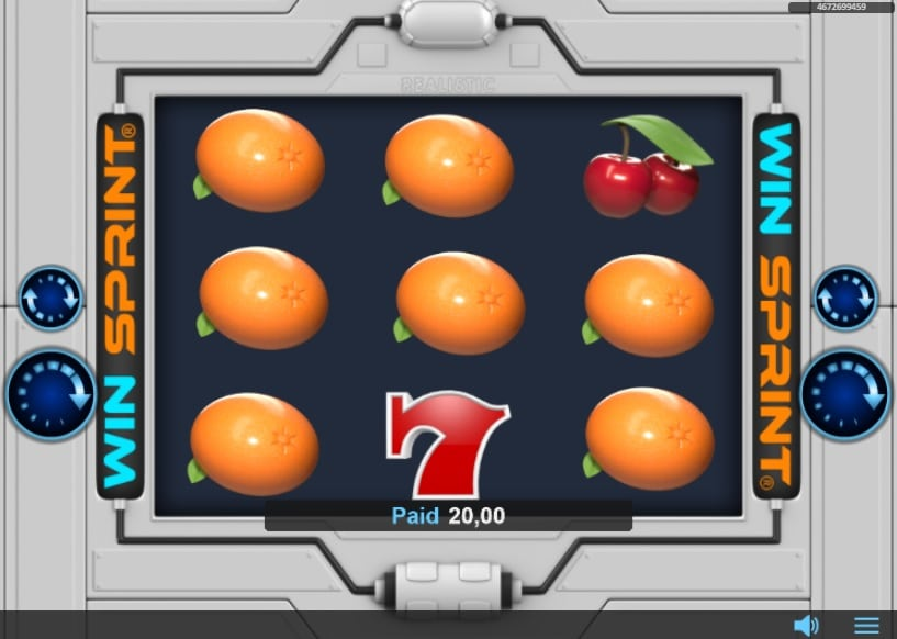 Win Sprint Oranges Symbols