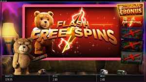 ted free spins feature
