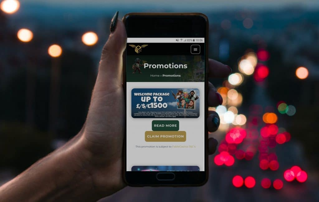 pay by mobile casino promotions