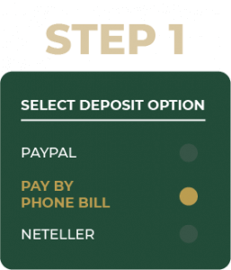 Step 1 Select deposit option