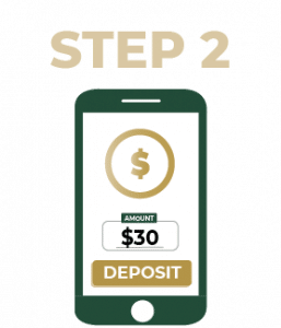 Step 2 Select deposit amount
