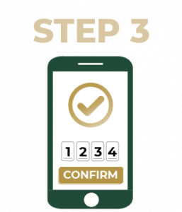 Step 3 Confirm by SMS